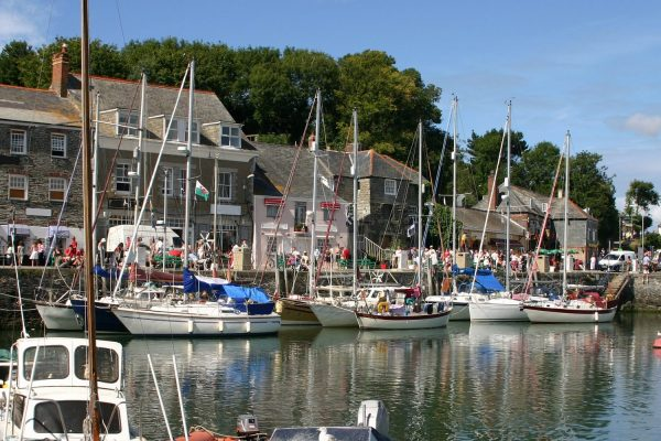 Padstow Harbour in Cornwall on a beautiful summers day